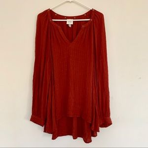 Knox rose burnt red orange tunic size XXL